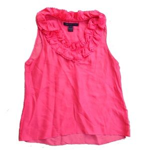 Marc Jacobs Coral pink ruffle trim sleeveless top